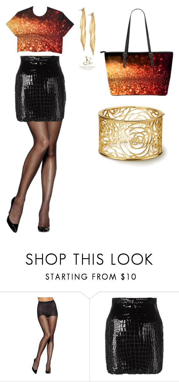 Sunset glitter by evlogia on Polyvore featuring Yves Saint Laurent and Hanes