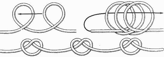 I. Узлы для утолщения троса / Морские узлы