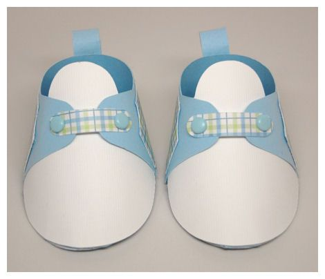 cardstock baby shoe template for boy