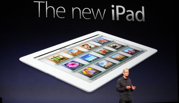 Apple Adds Sharper Screen and Speed to New iPad. Photo: Jim Wilson/The New York Times. March 7, 2012