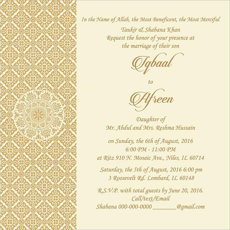 Muslim Wedding Invitation Wording: 9 Best Muslim Wedding Ceremony Wordings Images On