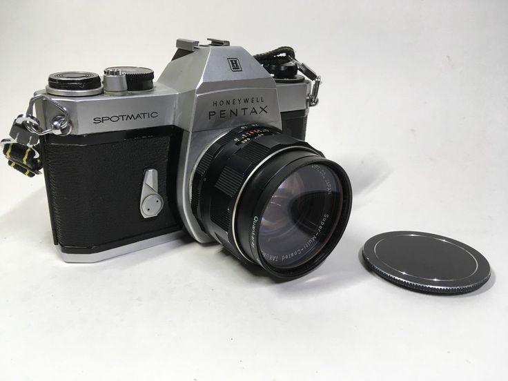 Honeywell Pentax Spotmatic SP2 1/1.8 55mm Super Takumar Asahi w/ case As-is   eBay