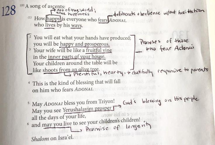 Psalm 128 #todaysstudy #dailydevotional