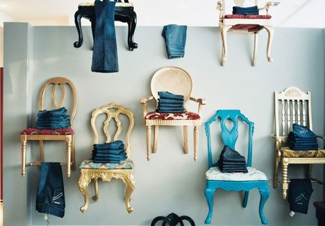 Hanging Chairs Wall Decor Store Displays Clothing