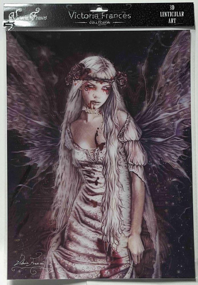 Brand New Licensed 3D Lenticular Victoria Frances OPHELIA Vampire Gothic Art