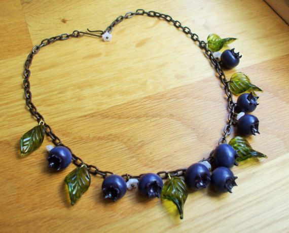 Hey, I found this really awesome Etsy listing at https://www.etsy.com/uk/listing/490502447/blueberry-necklace-40s-50s-inspired