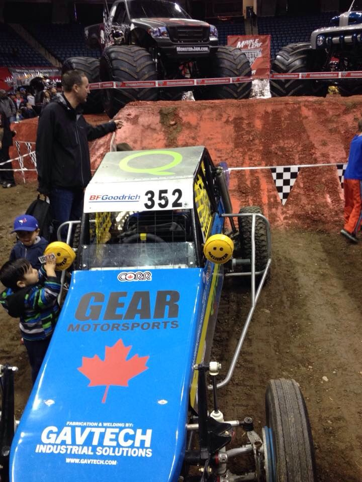 Maureen Nixon-Richards - Gavin and his race car at the Monster Jam Pit Party! So cool!