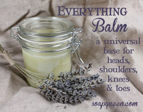 Tutorial and Recipe for Everything Balm...Try it on your cuticles, or on stubborn winter dry patches (like elbows and knees) for intensive moisture.