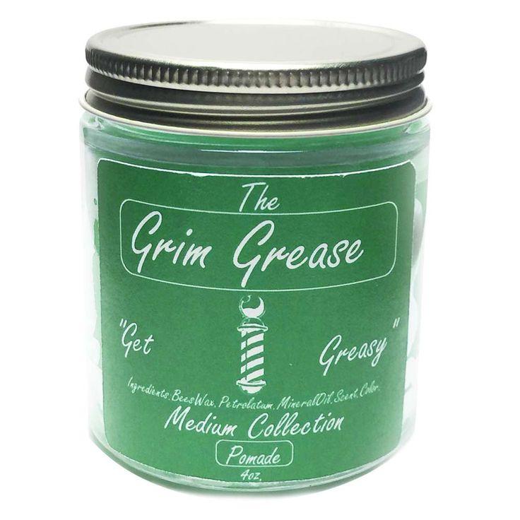 Grim Grease Light Green Heavy Hair Pomade 4oz