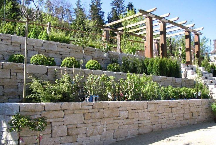 17 Best images about Hang-Gestaltung on Pinterest Garten, Wall - steine fur gartenmauer
