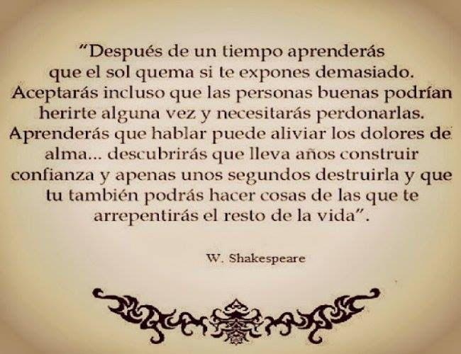 〽️Después de un tiempo aprenderás... Shakespeare