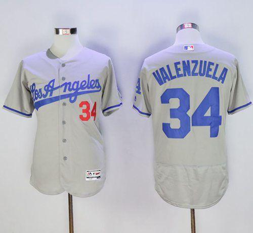 ... White Blue Gray Cream Dodgers 34 Fernando Valenzuela Grey Flexbase  Authentic Collection Road Stitched MLB Jersey · Dodgers JerseysSoccer  JerseysLos . ... e77098dfb