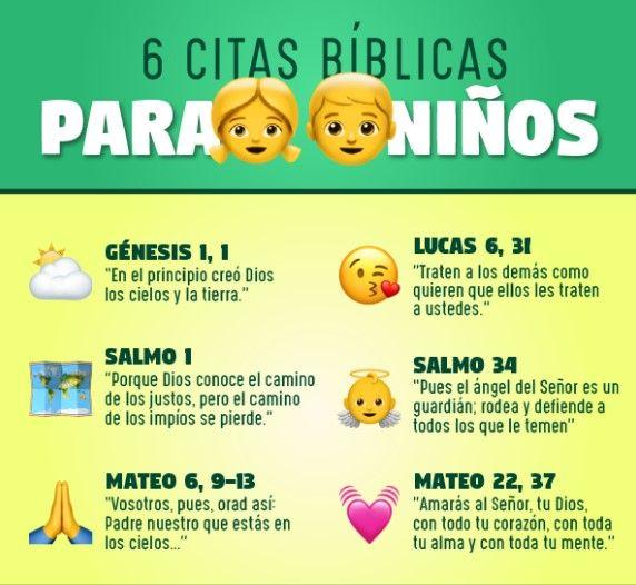 Versiculos De La Biblia Para Niños Y Bebés Citas Biblicas