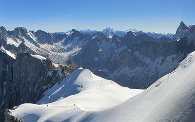 壁紙をダウンロードする トップ, アルプス, フランスアルプス, 山々, ピーク, フランス