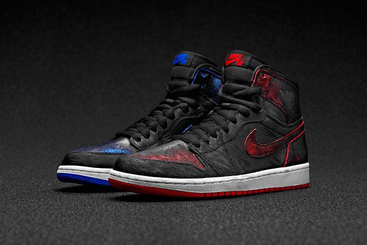 Image of Nike SB x Air Jordan 1 by Lance Mountain. The black color scrapes away and changes color as you skate with them. Bonkers.