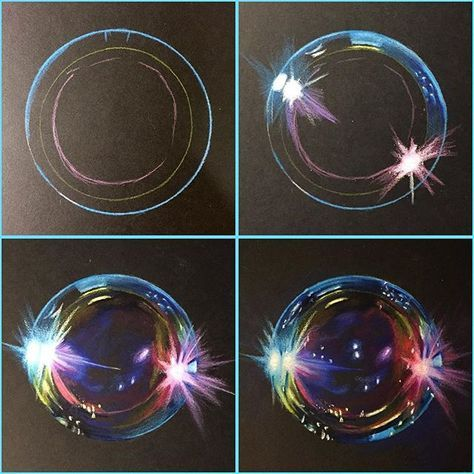 Progress shots of my bubble drawing!Prismacolor pencils on Strathmore Artagain paper. – Dagmar Treber