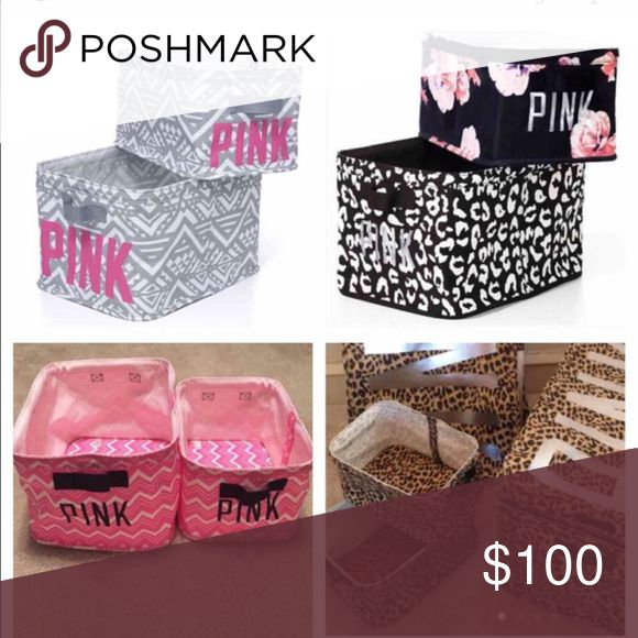 ISO ISO💕💕💕 Searching for vs pink storage bins in any print. If you or someone you know has them please let me know. Thanks in advance!😊 PINK Victoria's Secret Other