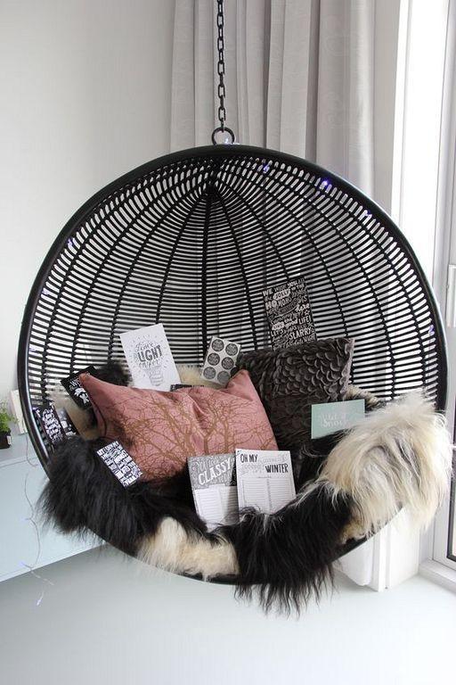 30+ gemütliche Hängesessel Designs für drinnen und draußen – #Chair #Cozy #D