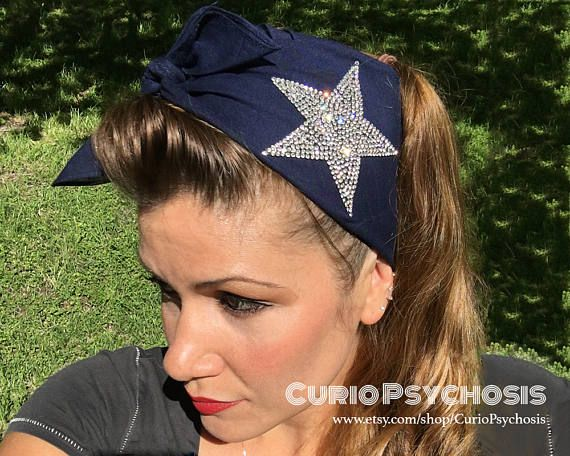 Dallas Cowboys Football Team Spirit Hair by CurioPsychosis on Etsy