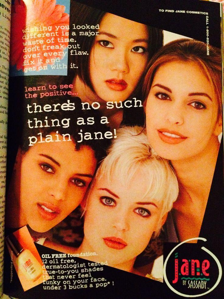 Jane Cosmetics ~ Vintage Magazine Ad ~ Makeup