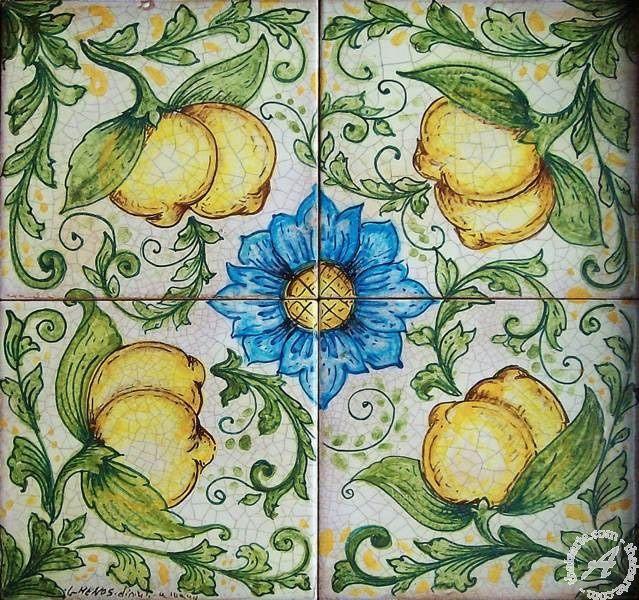 Ghenos > Fruit & Flower > Wall tile mural, modular floor tile panel