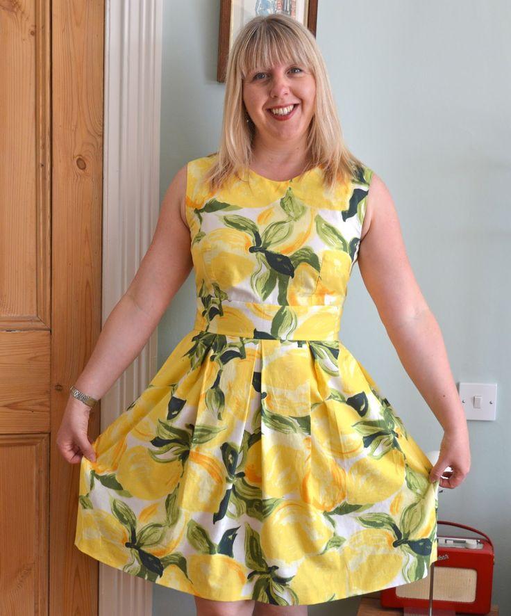 Handmade Jane: Lemon dress - with a nod to Kate Spade (Mortmain Dress pattern by Gather)
