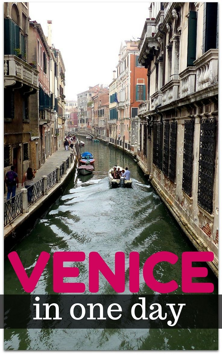 Our guide to things to do in Venice in one day, getting around, how to get to Venice and other things you need to know for an awesome Venice adventure! http://www.wheressharon.com/europe-with-kids/exploring-venice-in-a-day/