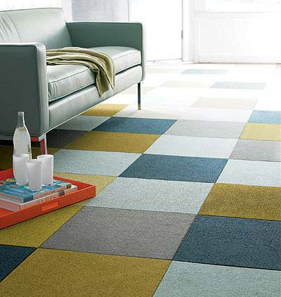 simples - but we need the punchy mustard colour if we go down this route  Decorating Changes Carpet Tiles