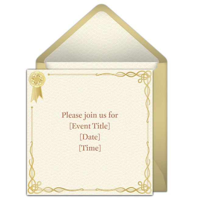 Customizable Award online invitations. Easy to personalize and send for a party. #punchbowl