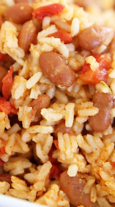 Pressure Cooker Mexican Rice & Beans: delicious. I made with black beans. REALLY spicy.