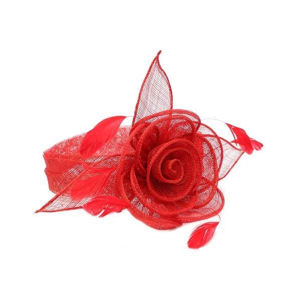 Chapeau Mariage Rouge Serre Tête Figue #chapeaumariage #mariage #mode #bonplan #look sur Hatshowroom.com