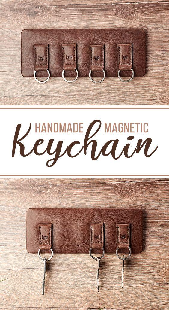 Magnetic Key Holder · Brown