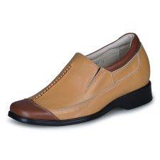 Men's Shoes Casual Yellow Cow Leather PVC Sole Men's Taller Shoes