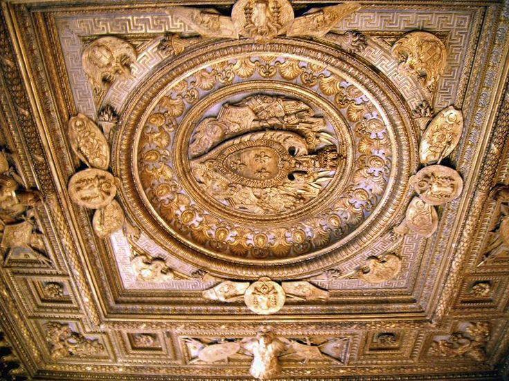 D tail plafond de la chambre du roi dite chambre de for Chambre de parade