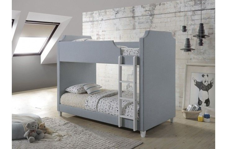 Gilroy Gray Twin Over Twin Bunk Bed From Coaster Coleman