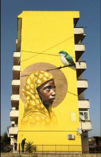 Street-wall graphic art - L'arte grafica sui muri. Street art come forma d'arte e di comunicazione visiva. #streetart #murales