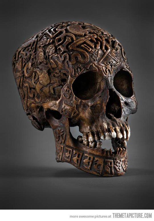 An Engraved Tibetan Skull…