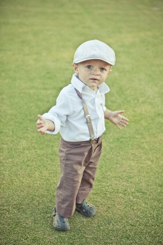 Outfits and Suits for Ring Bearers and Boys in a Wedding. After seeing the sweet line up of page boys and flower girls at Pippa Middleton's wedding this past weekend, I was inspired to seek out a few suits and outfits for ring bearers, and my goodness are there some cute ring bearer suits to be had!