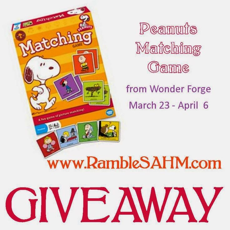 Peanuts Matching Game Giveaway