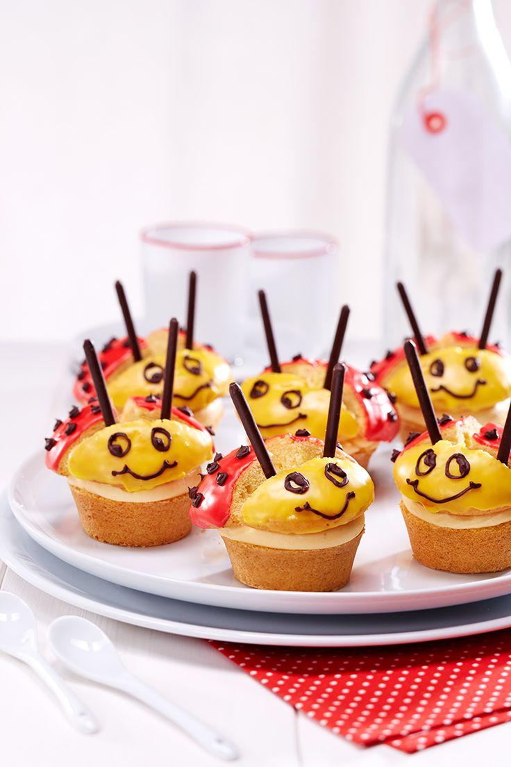 Lustige Käfer - Muffins in Marienkäfer-Optik nicht nur für den Kindergeburtstag