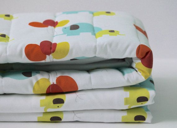 Baby Bedding Set  Elephant Bedding  Toddler Bedding  by tinytweets