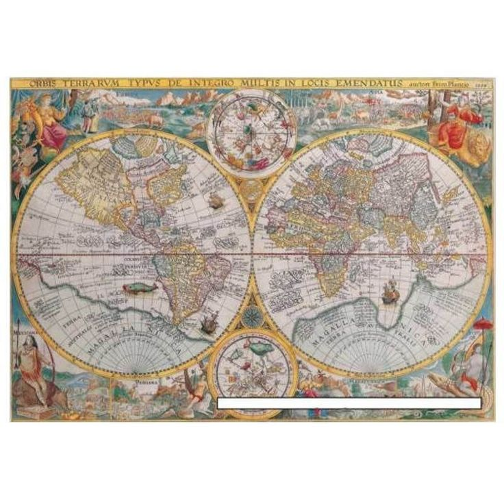 ravensburger 1500 pieces jigsaw puzzle world map 1594. Black Bedroom Furniture Sets. Home Design Ideas