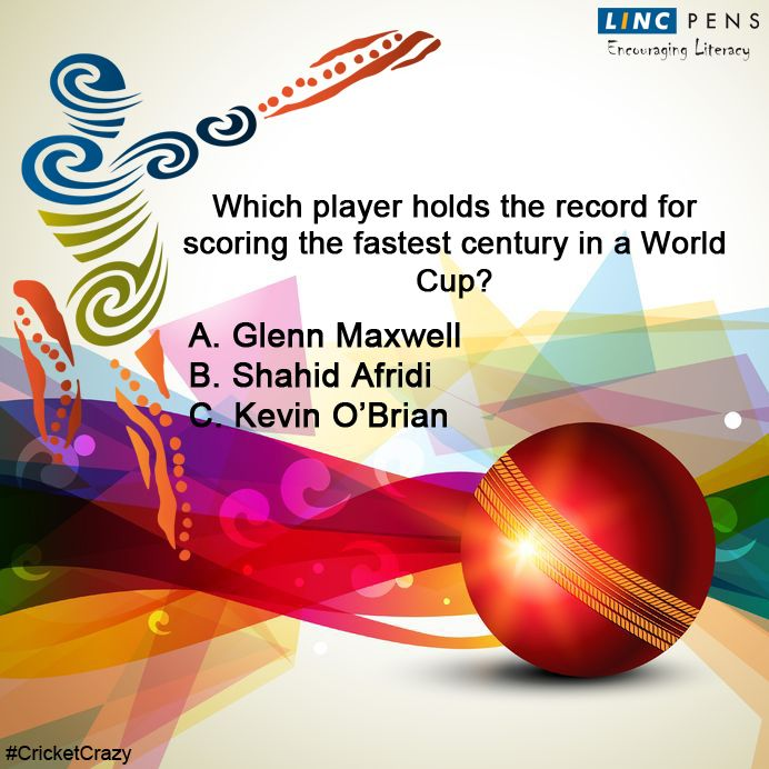 Question #18 ‪#‎CricketCrazy‬ ‪#‎WorldCup15‬