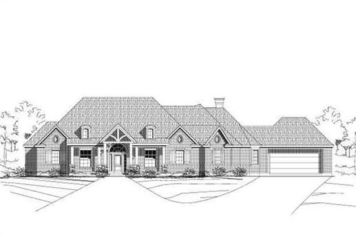 Home Plan 30898 Is A Single Story Country French Style