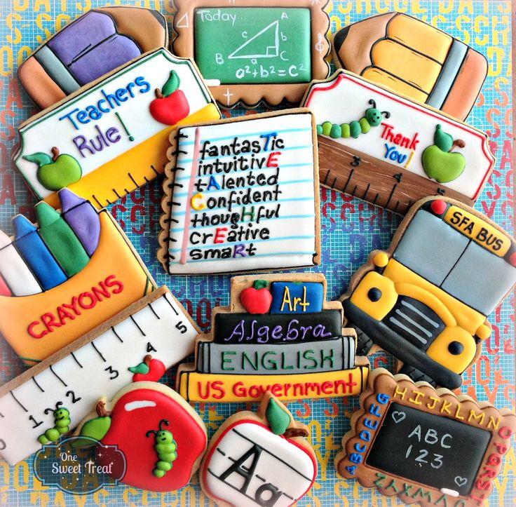 School cookies. www.OneSweetTreat.com