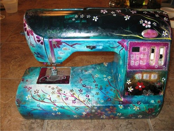 Painted Sewing Machine 1