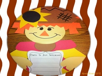 FREE!  Fall Scarecrow Writing Craftivity (English & Spanish)