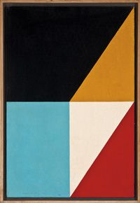 Frederick Hammersley was a critically acclaimed American abstract painter whose participation in the landmark 1959 Four Abstract Classicists exhibit secured his place in art history. Considered hard-edge painter.