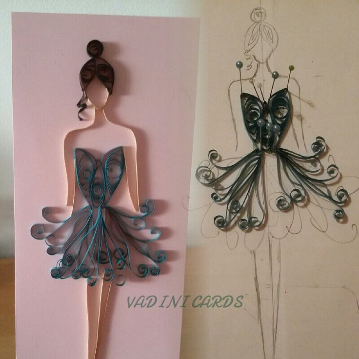 Couture Clothing Quilled - by: Vad Ini Cards