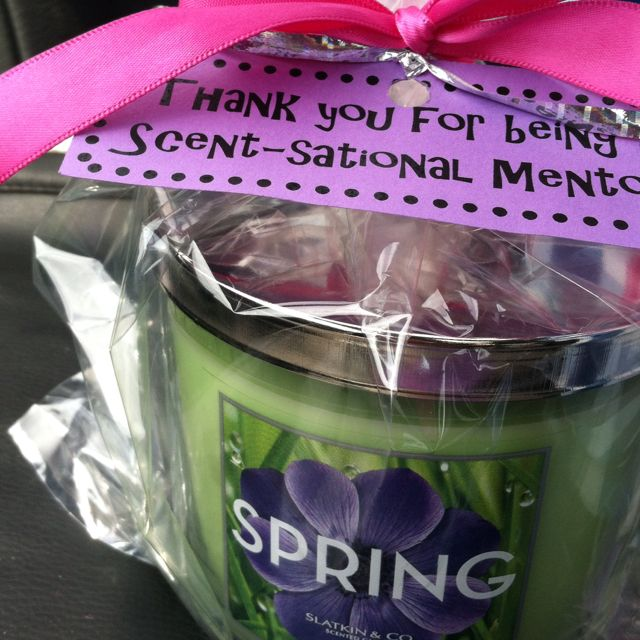 End of year teacher gift: thank you for being a scent-sational mentor teacher!